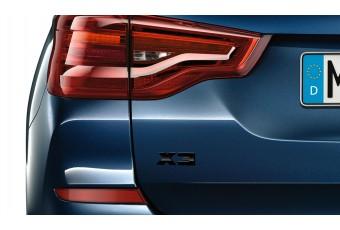 Літери X3 BMW, чорний глянцевий
