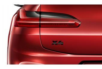 Літери X4 BMW, чорний глянцевий