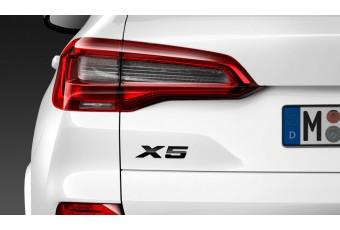 Літери X5 BMW, чорний глянцевий