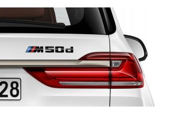 Літери M50d BMW (G05), чорний глянцевий