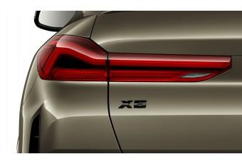 Літери X6 BMW, чорний глянцевий