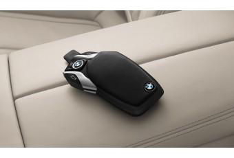 Шкіряний футляр для ключа з дисплеєм BMW, чорний