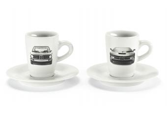 Набір чашок для еспрессо з зображенням BMW M1 і BMW 2002 з колекції Heritage