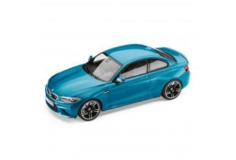 BMW 2 серії M2 coupe 2016, колір Long Beach Blue  1:18