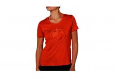 Футболка BMW лого оранжева, жіноча