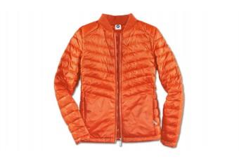Легка пухова куртка, оранжева, жіноча