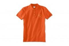 Поло BMW лого оранжеве, чоловіче