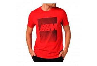 Футболка BMW M червона, чоловіча