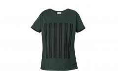 Зелена жіноча футболка зі смужками MINI JCW